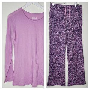 Gilligan & O'Malley Purple Pink Sleepwear Set